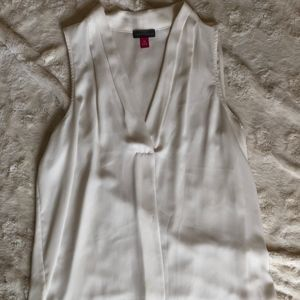 White Flowy Vince Camuto Top